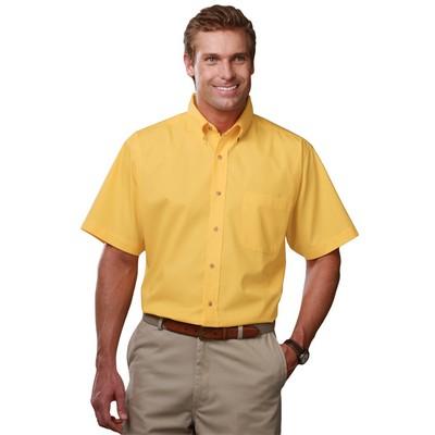 Men's Short Sleeve Teflon Treated Twill