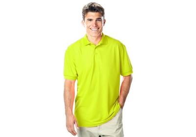 Men's 100% Polyester Pique Polo- ANSI 107 Compliant