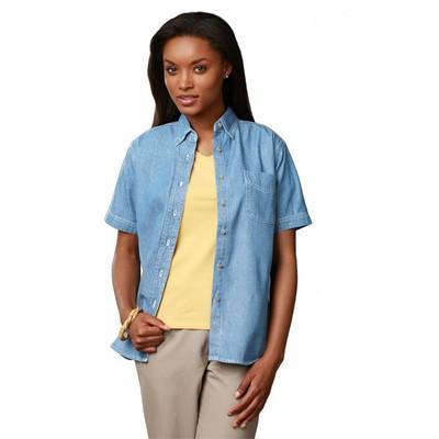 Ladies' Short Sleeve Premium Denim