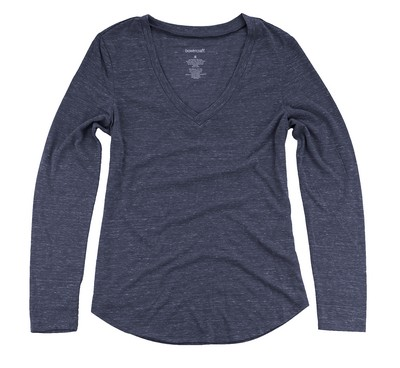 Boxercraft Snow Heather Long Sleeve V-Tee