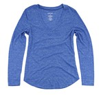 Picture of Boxercraft Snow Heather Long Sleeve V-Tee