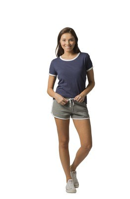 Boxercraft Ladies Short Ringer Tee