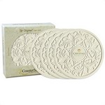 "Picture of 4-packRound Victorian Lace 4.25"" Stone Coasters"