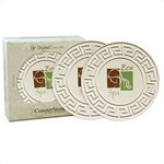 "Picture of 2-pack Round Greek Key 4.25"" Stone Coasters"