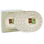 "Picture of 4-pack Round Greek Key 4.25"" Stone Coasters"