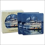 "Picture of 2-pack Square 4.25"" Stone Coasters"