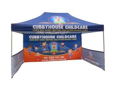 15' Custom Standard Tent - Full Back Wall & 2 Half Sides