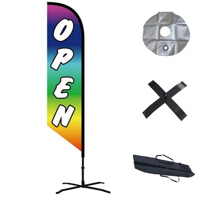 Double Sided Angled Custom Feather Flag  - Indoor
