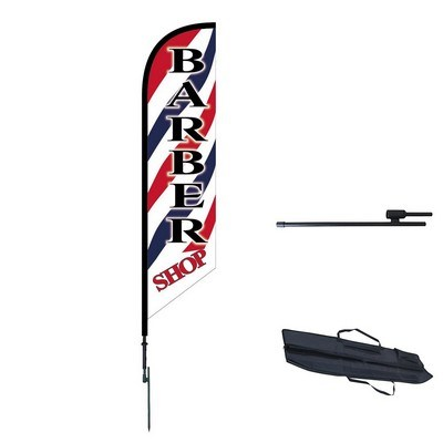 Double Sided Angled Custom Feather Flag - Outdoor