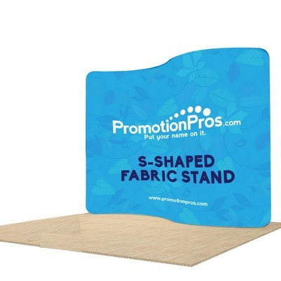 Vertical S-Shape Fabric Stand Popup Stand - Double Sided