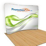 Picture of Curved Fabric Stand Popup Stand - Single Sided