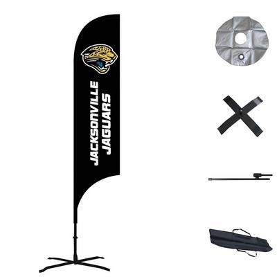 Double Sided Concave Custom Feather Flag  - Outdoor & Indoor Combo