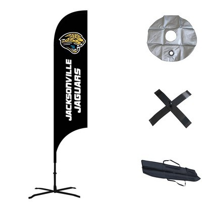 Double Sided Concave Custom Feather Flag  - Indoor