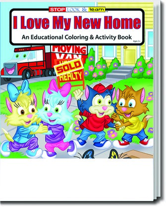 Coloring Book - I Love My New Home Coloring and Activity Book