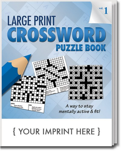 Puzzle Book - LARGE Print Crossword Puzzle Book