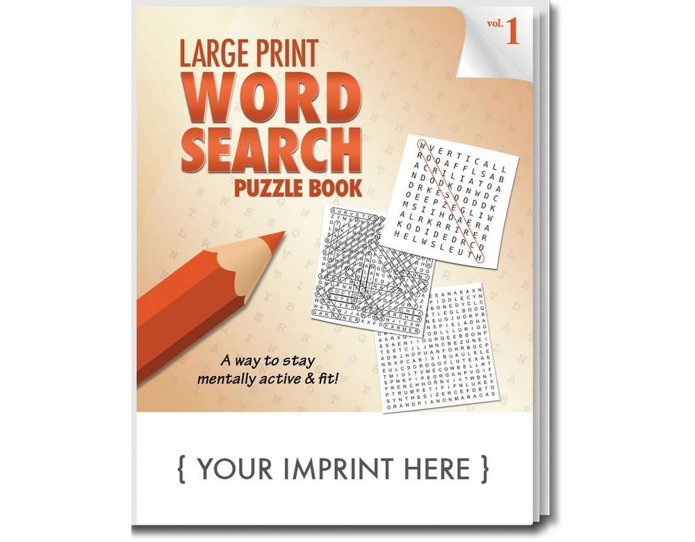 Customizable Large Print Word Search Book