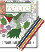 Picture of Relax Pack - Nature Coloring Book and Colored Pencil Set