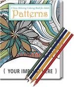 Picture of Relax Pack - Patterns Coloring Book and Colored Pencil Set