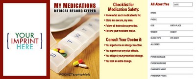 Pocket Pamphlet - My Medications Medical Record Keeper