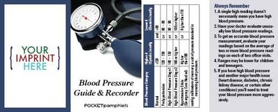 Pocket Pamphlet - Blood Pressure Guide and Recorder