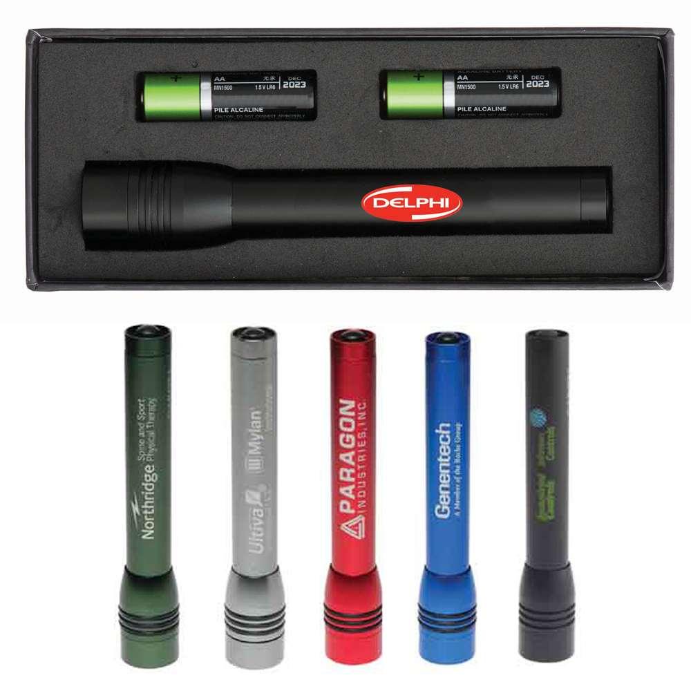 Branded Dakota 3 Function LED Flashlight