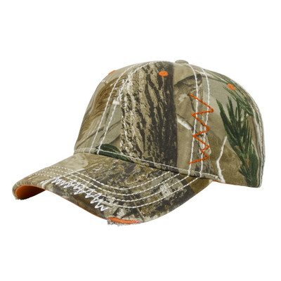 Washed Camo Twill with Accents Cap