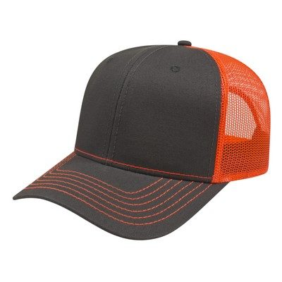Customised Modified Flat Bill with Mesh Back Cap