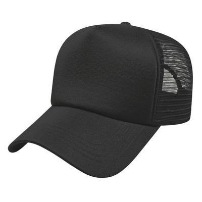 Promotional  5 Panel Poly Foam & Trucker Mesh Cap - Screen Printed