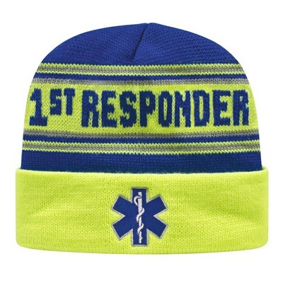Customizable USA Made Cuffed Knit Cap w/ Embroidery