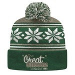 Picture of Custom USA Made Cuffed Knit Cap w/ Screen Printing - Pom Pom