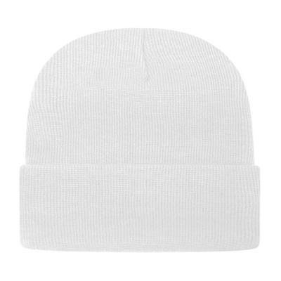 Customizable USA Made Knit Cap with Cuff - Embroidered
