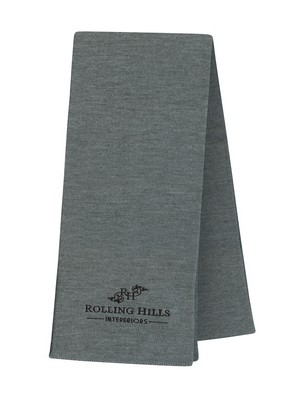 Personalised USA Made Scarf without Fringe - Embroidered