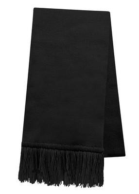 Custom USA Made Scarf w/ Fringe - Embroidered