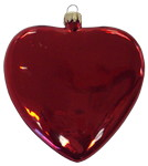 "Picture of 3 1/4"" Glass Heart Disc Ornament"
