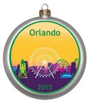 "Picture of 3 1/2"" Round Glass Disc Ornament - Full Color"