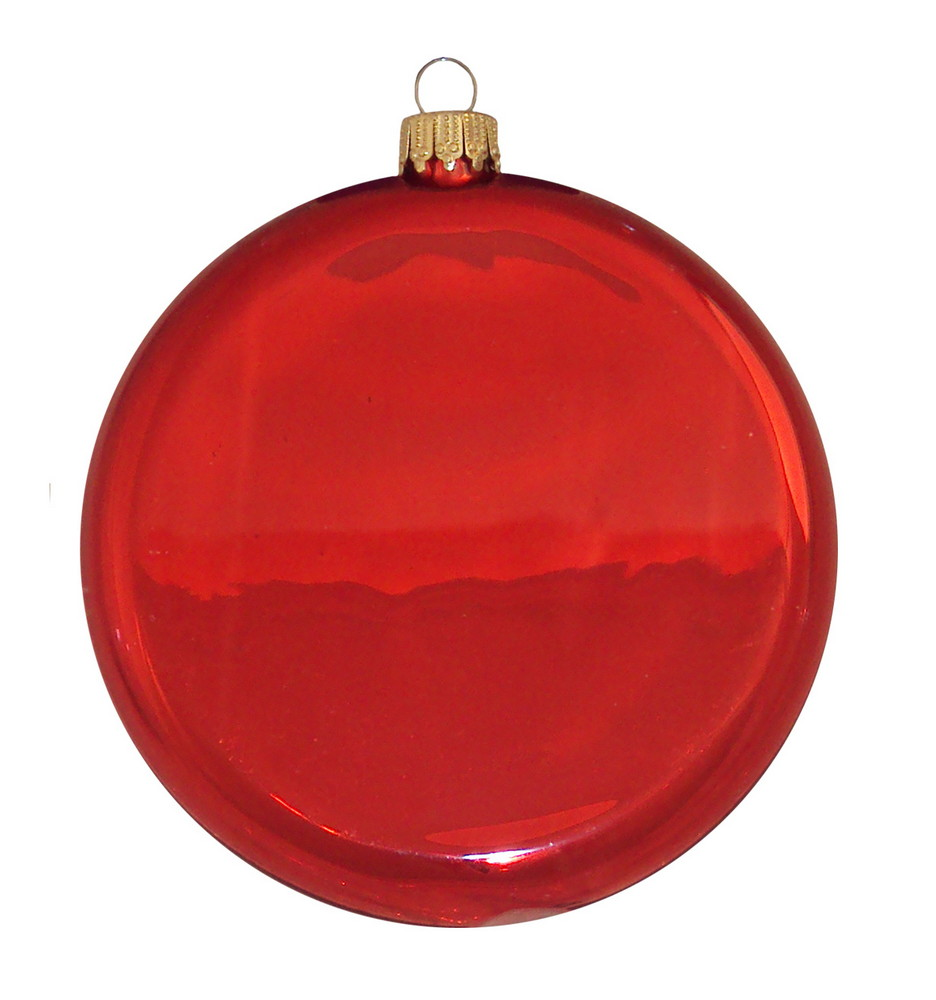 """Personalized 3 1/4"""" Glass Disc Ornament"""