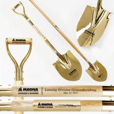 Traditional Gold Ceremonial Shovel