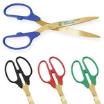 "Picture of 25"" Ceremonial Scissors Gold Handle"