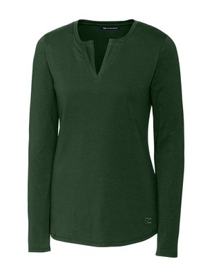 Ladies' L/S Avail Double V-Neck