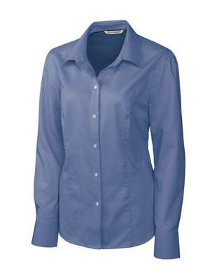 Ladies' Epic Easy Care Nailshead Long Sleeve Button-Up Shirt