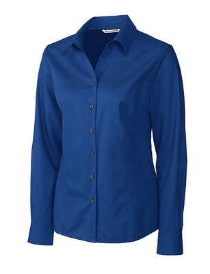Ladies' Plus L/S Epic Easy Care Fine Twill