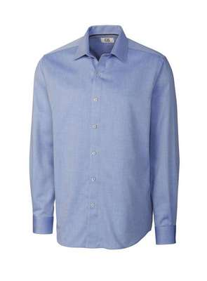 Men's Epic Easy Care Mini Herringbone Long Sleeve Button-Up Shirt