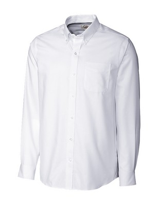 Cutter & Buck Men's Long Sleeve Easy Care Nailshead Tailored Fit Shirt