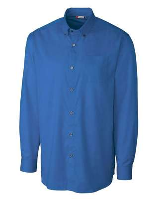 Men's Avesta Stain Resistant Long Sleeve Twill Button-Up Shirt