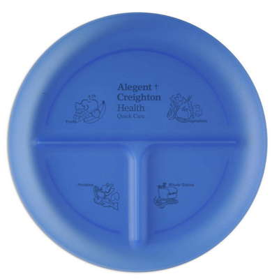 Portion Plate with Three Compartments