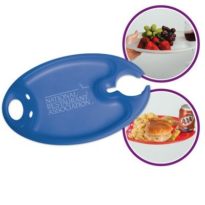 Party Plate with Cup Holder