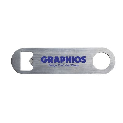 Logo Printed Mini Pub Stainless Steel Bottle Opener