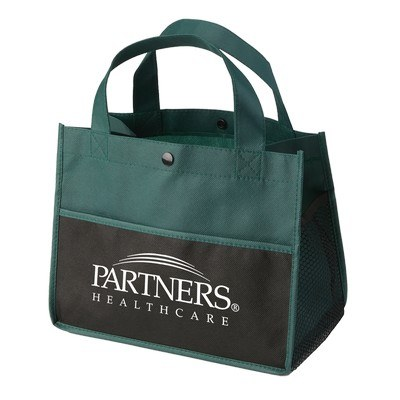 Promotional Mini Snap Non-Woven Lunch Tote