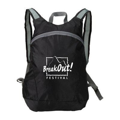 Imprinted Ripstop Stow'N Go Backpack