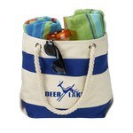 Picture of Logo Printed 16 Oz. Portsmouth Cotton Canvas Boat Tote